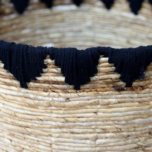 The Banana Stitched Baskets - Natural Black - Large