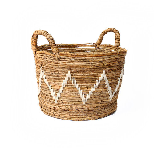 The Banana Stitched Baskets - Natural White - Large