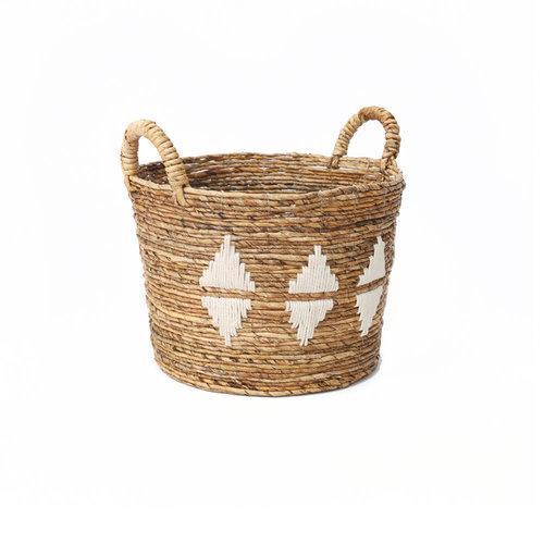 The Banana Stitched Baskets - Natural White - Medium