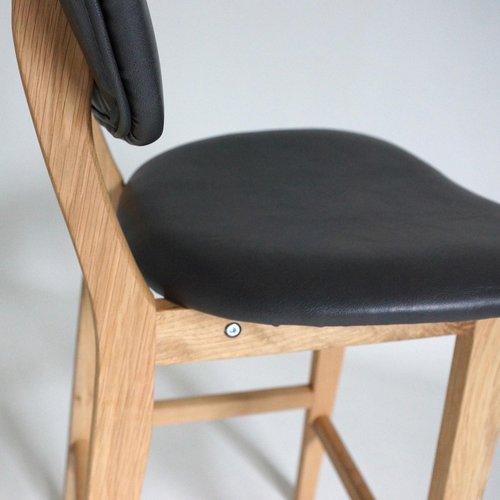 Radice Elba barkruk - Houten onderstel - Met rugleuning - 65 cm