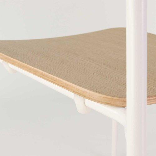 Burble - Paul houten eetkamerstoel - Metalen onderstel - Naturel