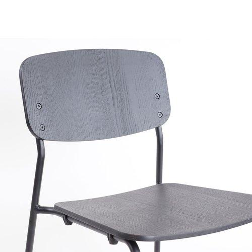 Burble - Paul houten eetkamerstoel - Metalen onderstel - Zwart