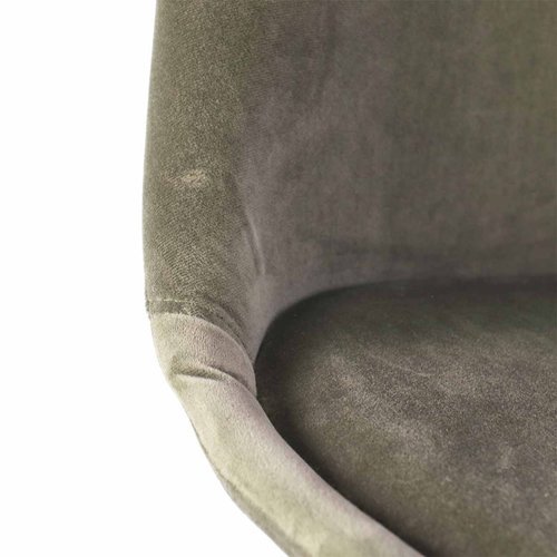 Radice Medina velvet eetkamerstoel - Houten onderstel - Groen