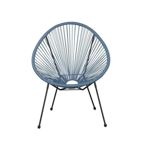 Bo Draadstoel - Zwart & Blauw
