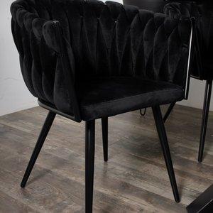 Wave stoel - Zwart (set van 2)