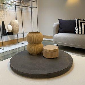 Design Van Rein Betonnen plateau grijs - Rond - L