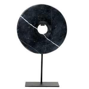 BB The Marble Disc on Stand - Black - L