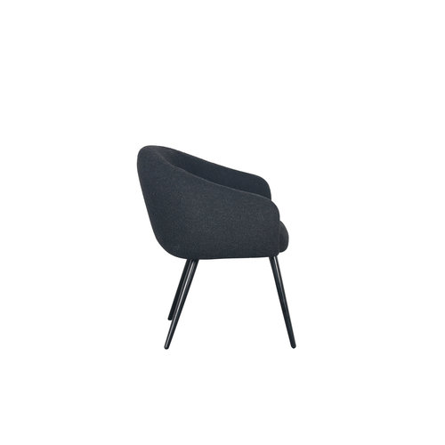 PTP Bubble Chair - Teddy stof - Zwart