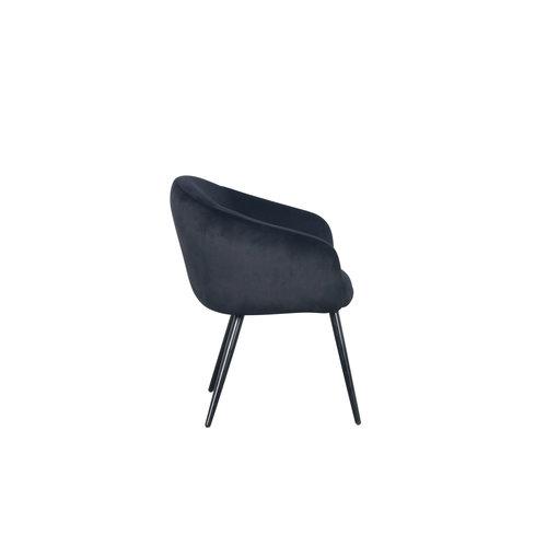 PTP Bubble Chair - Velvet stof - Zwart