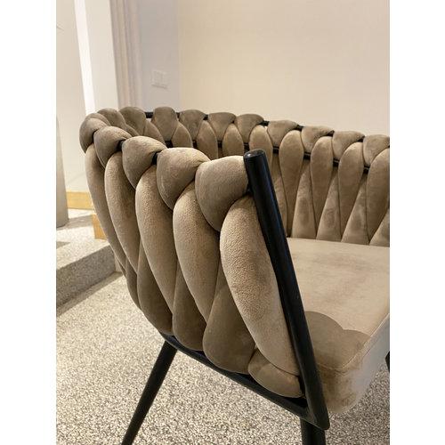 Wave stoel - Sand (set van 2)