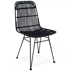 KD Rotan stoel - Flora - Zwart