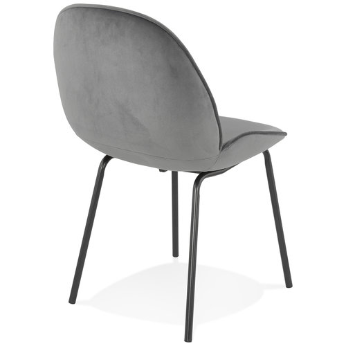 KD Roos - Eetkamerstoel - Velvet - Grey