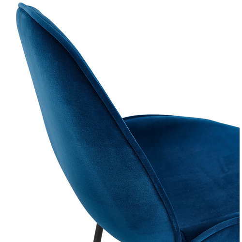 KD Roos - Eetkamerstoel - Velvet - Blue