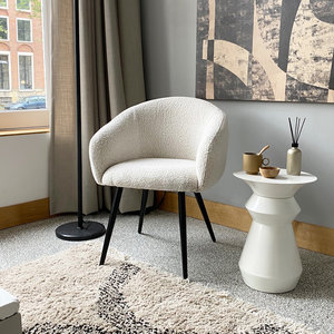 PTP Bubble Chair - Teddy stof - Wit
