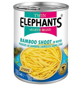 Bamboo Strips Twin Elephants Can 540G