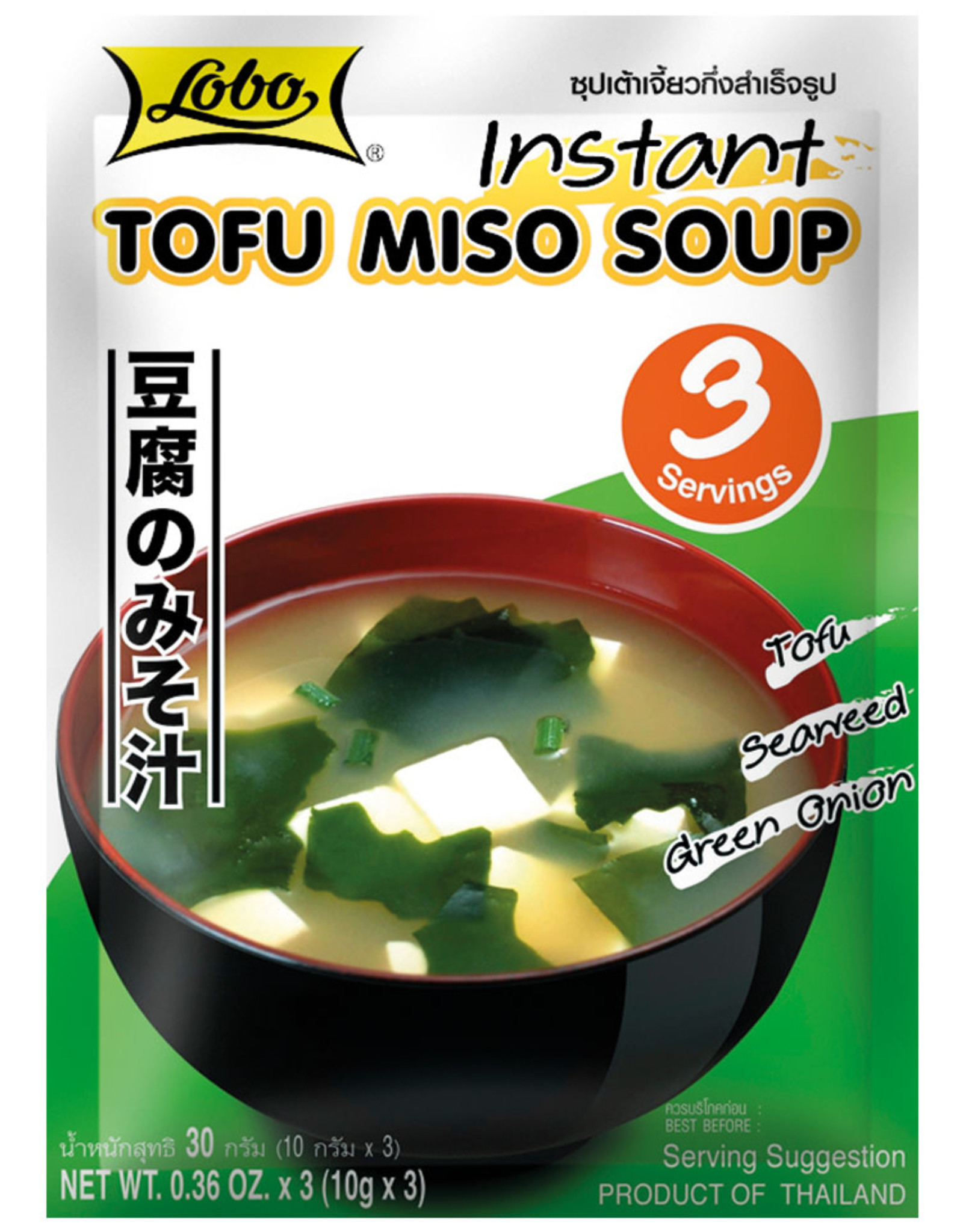 Instant Tofu Miso Soup Lobo 30G