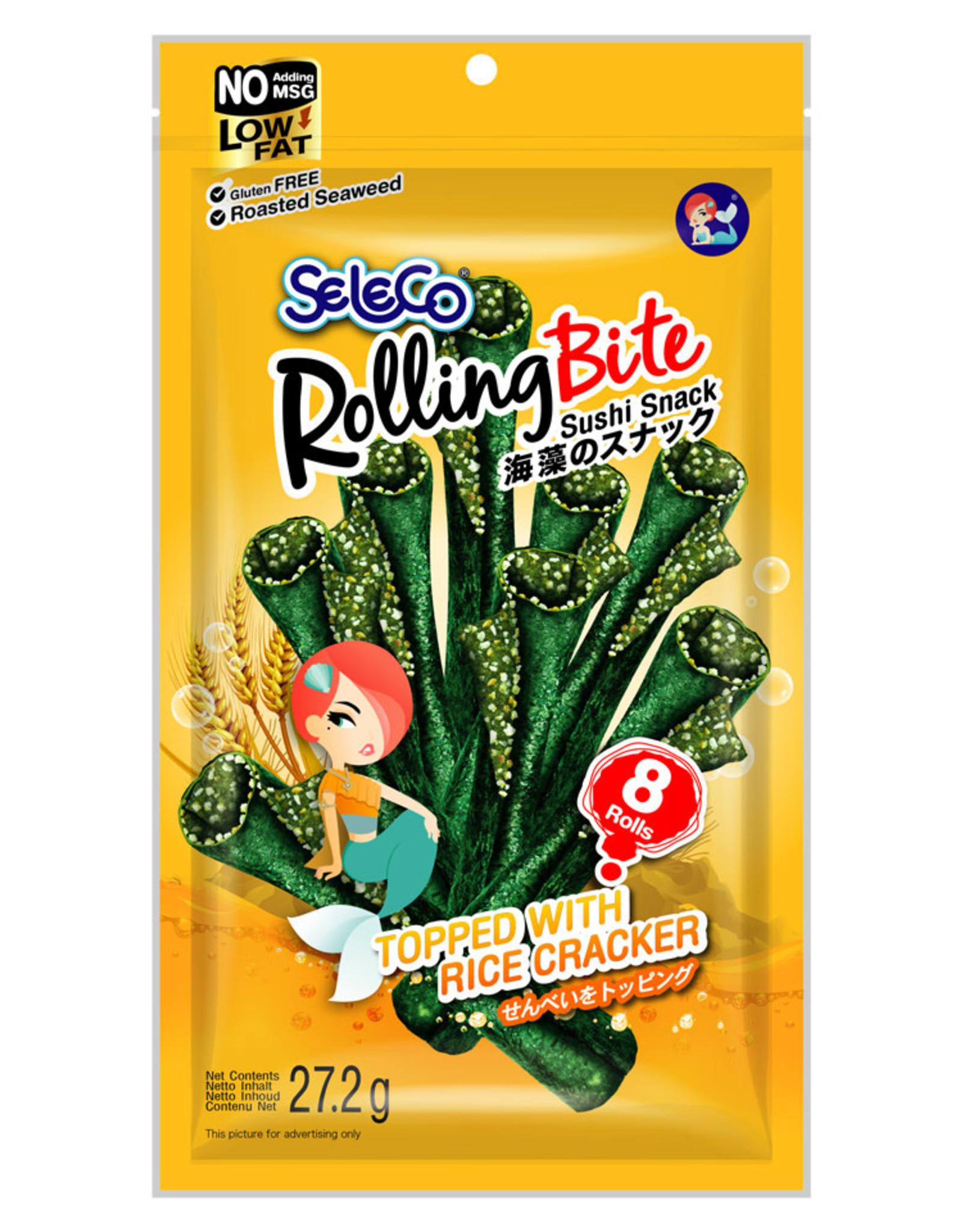 Zeewiersnack Met Rijst Seleco (Rolling Bite) 27G