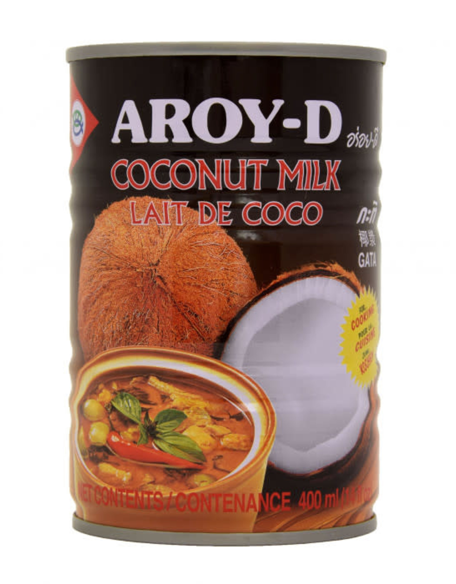 Coconut Milk For Cooking 400 Ml.  Aroy-D