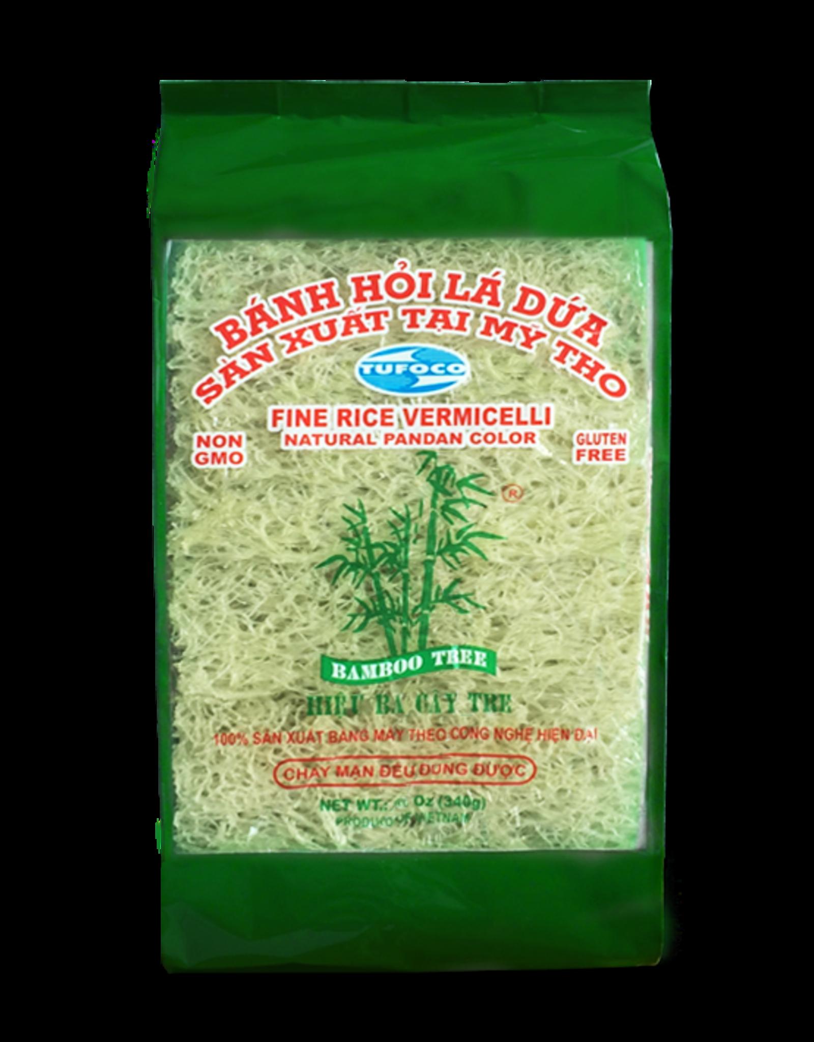 Fine Rice Vermicelli Green 340 Gr  Bamboo Tree