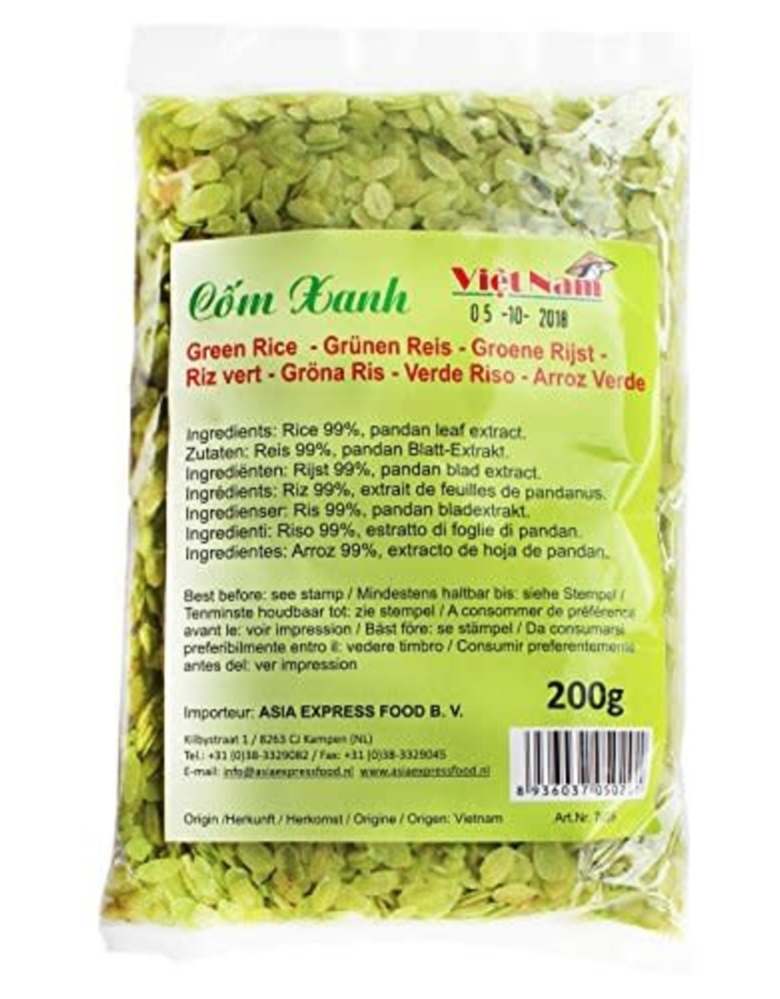 Green Flat Rice 200 Gr Viet Nam