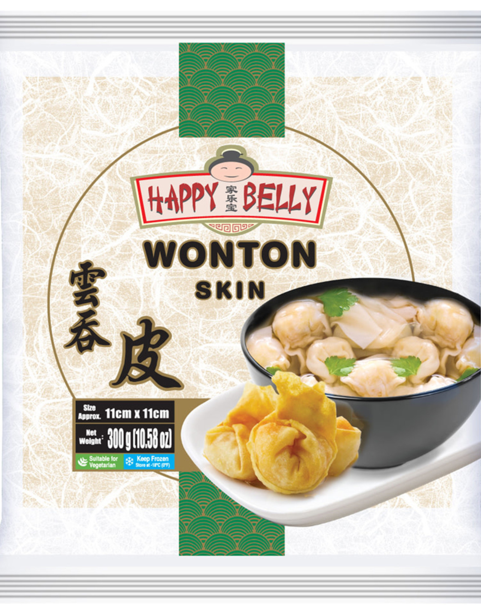 Happy Belly Wonton Sheet 11Cm Happy Belly 300G
