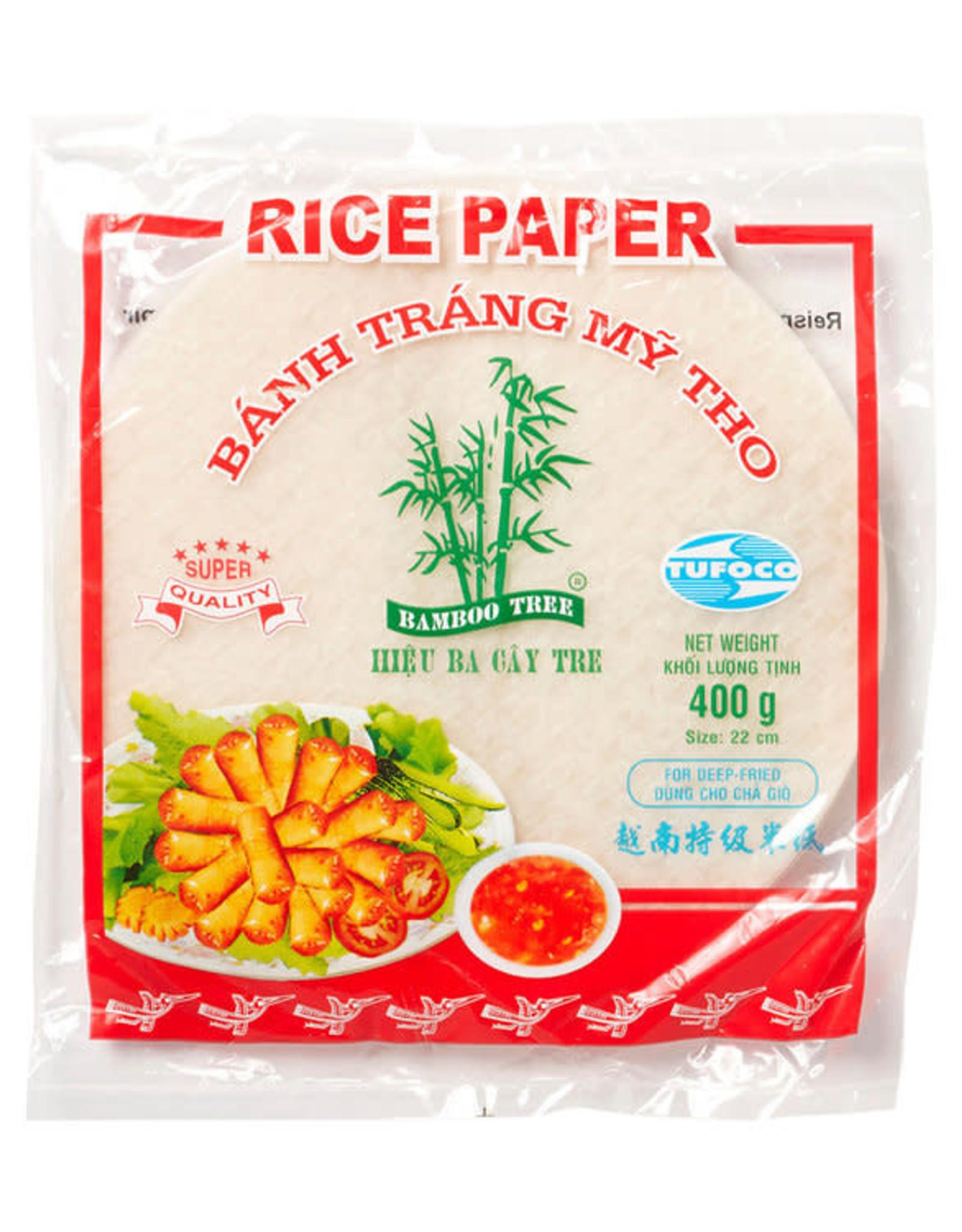 BAMBOO TREE Rice Paper 22Cm.(Deep-Fry) R  400 Gr.  Bamboo Tree