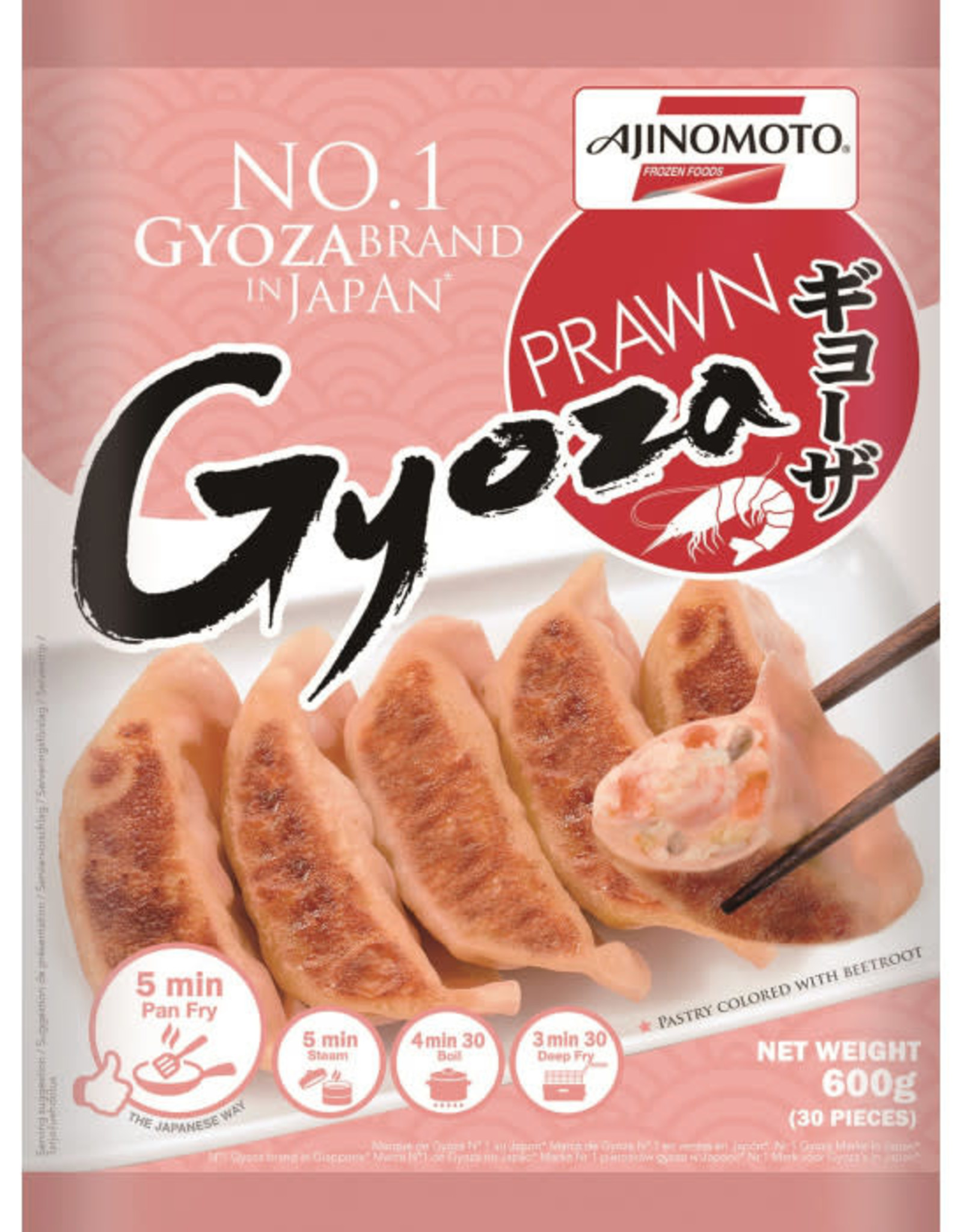 AJINOMOTO Japan Style Prawn Gyoza-18°C  600 Gr.  AJINOMOTO