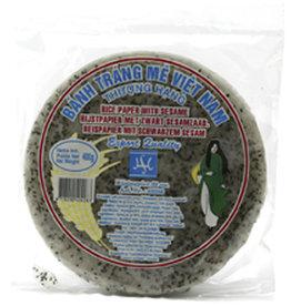 Vietnam Rijstpapier Crackers Zwart Sesame Vietn. 22Cm 400G