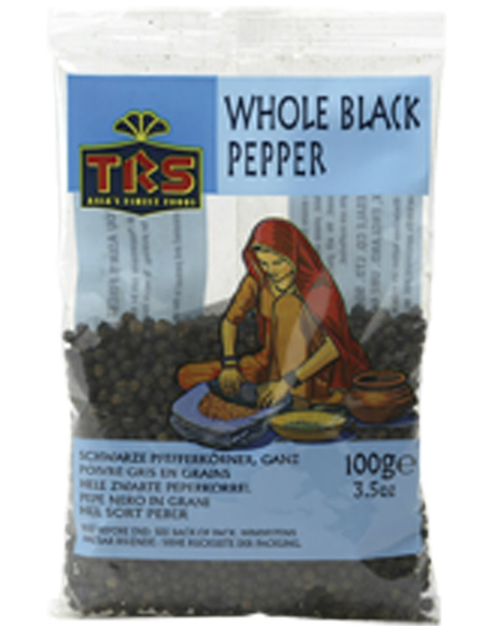 TRS Spices Pepper Black Whole Trs 100G