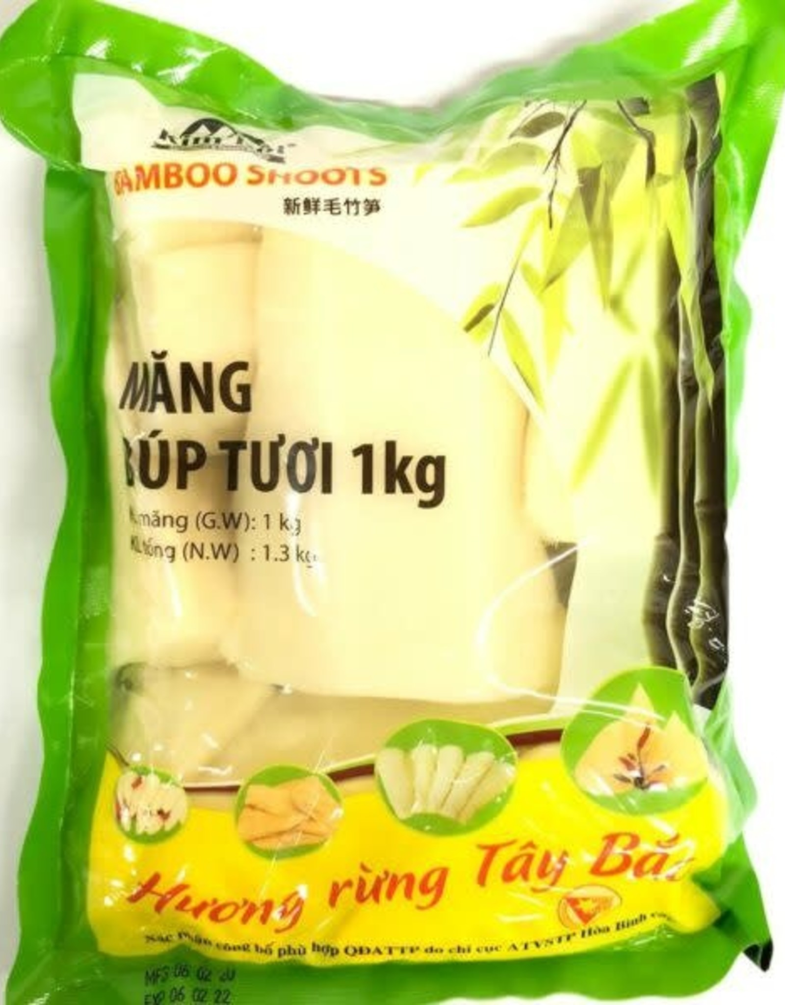 Pre-Cooked Bup Bamboo Half 1000G