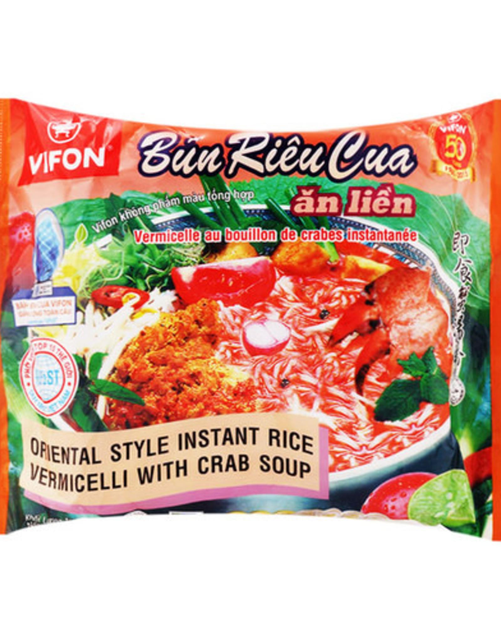 Vifon Inst Rice Vermicelli Crab 80G