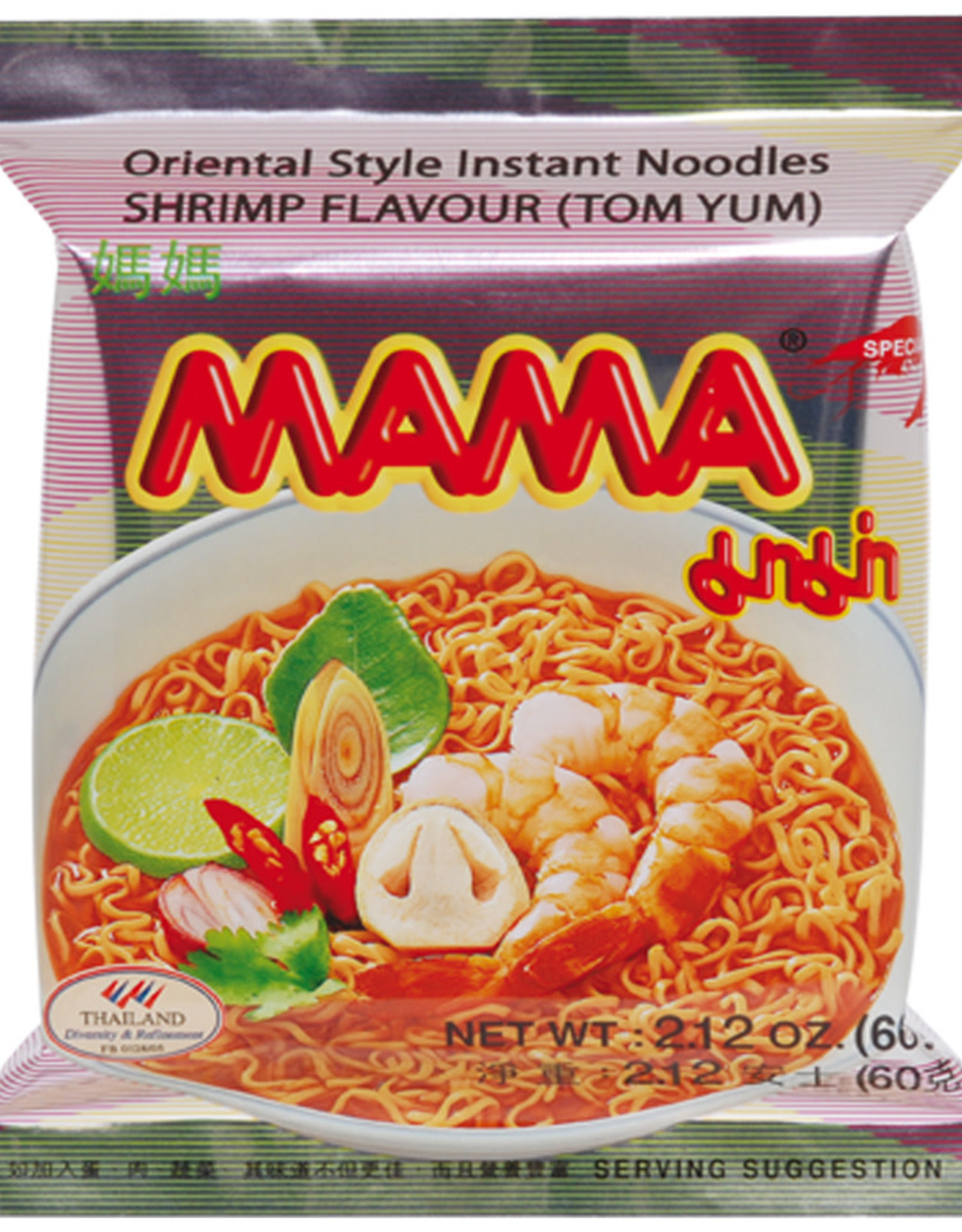 MAMA Instant Noedels  Garnalen ( Tom Yum) Mama 60gr