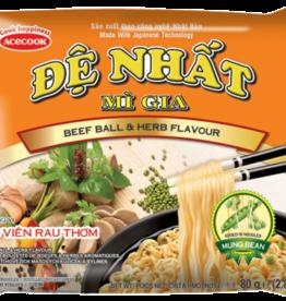 Đệ Nhất Mì Gia - Acecook DN Instant Noodles Beef Balls 80g