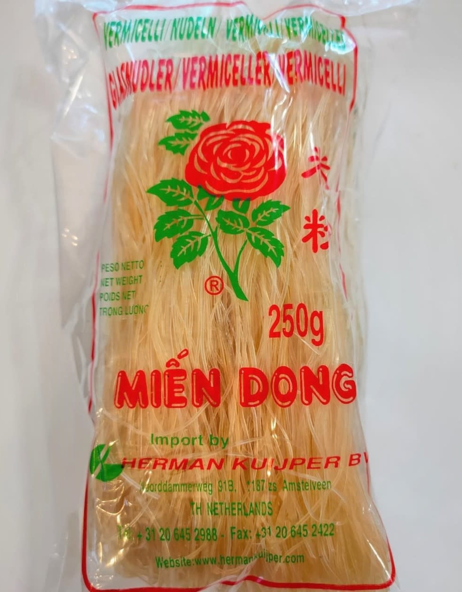 Rose Vermicelli (Glass noodle/Mien dong) Rose 250g