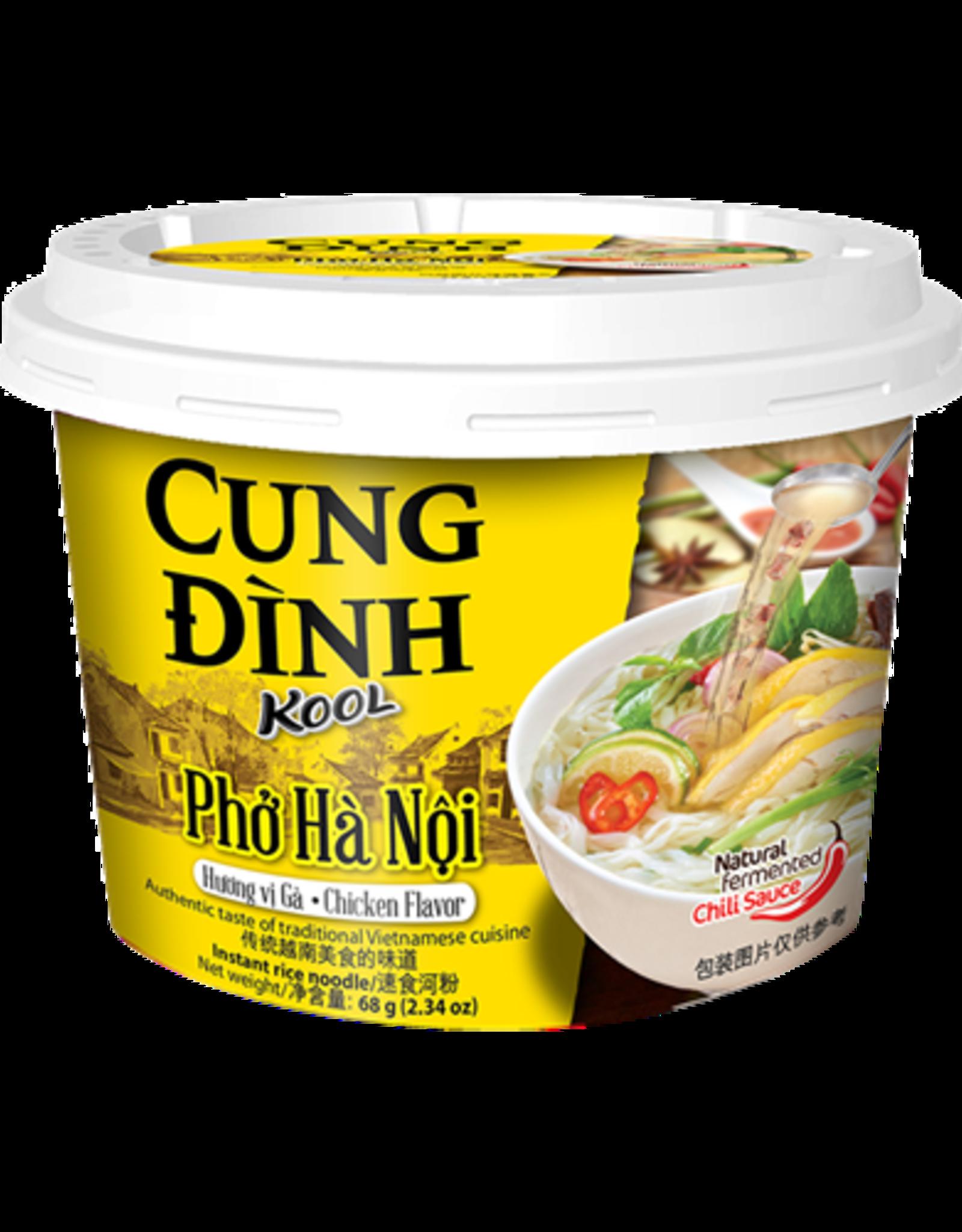 Cung Dinh Inst Rice Noodles Kool Brand - Pho Ga (Cup) 68g