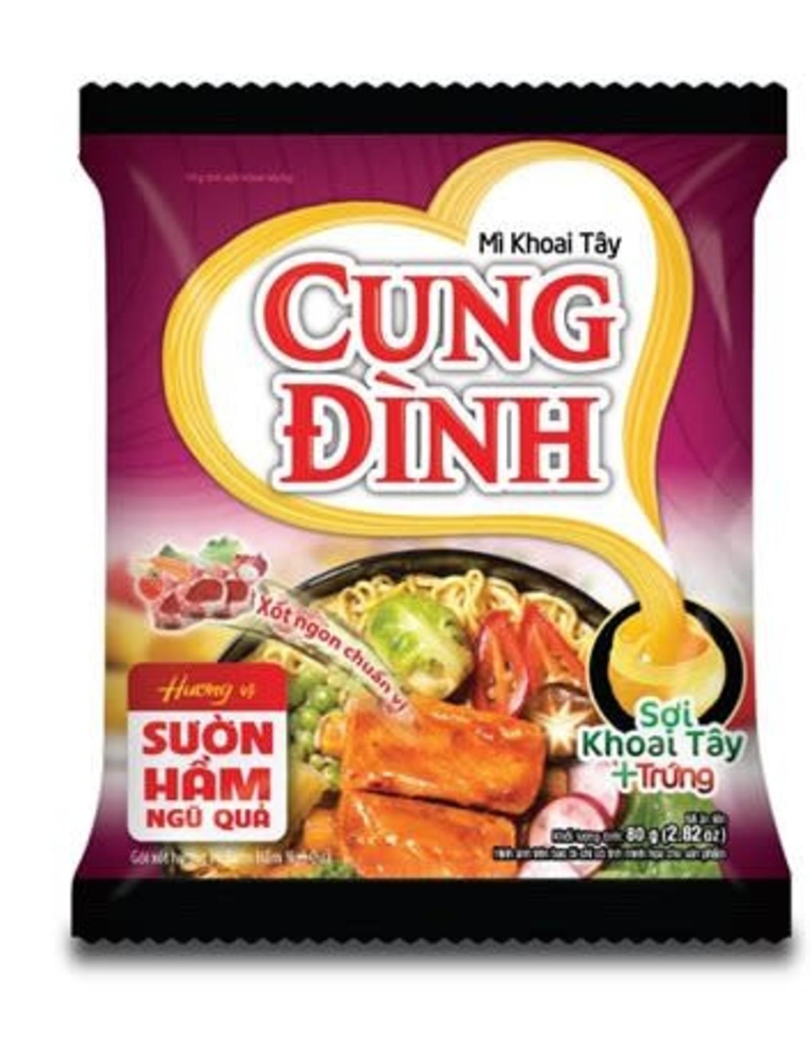 Cung Dinh Inst. Noedels - Gestoofde Sparerib 5 Fruits 80g