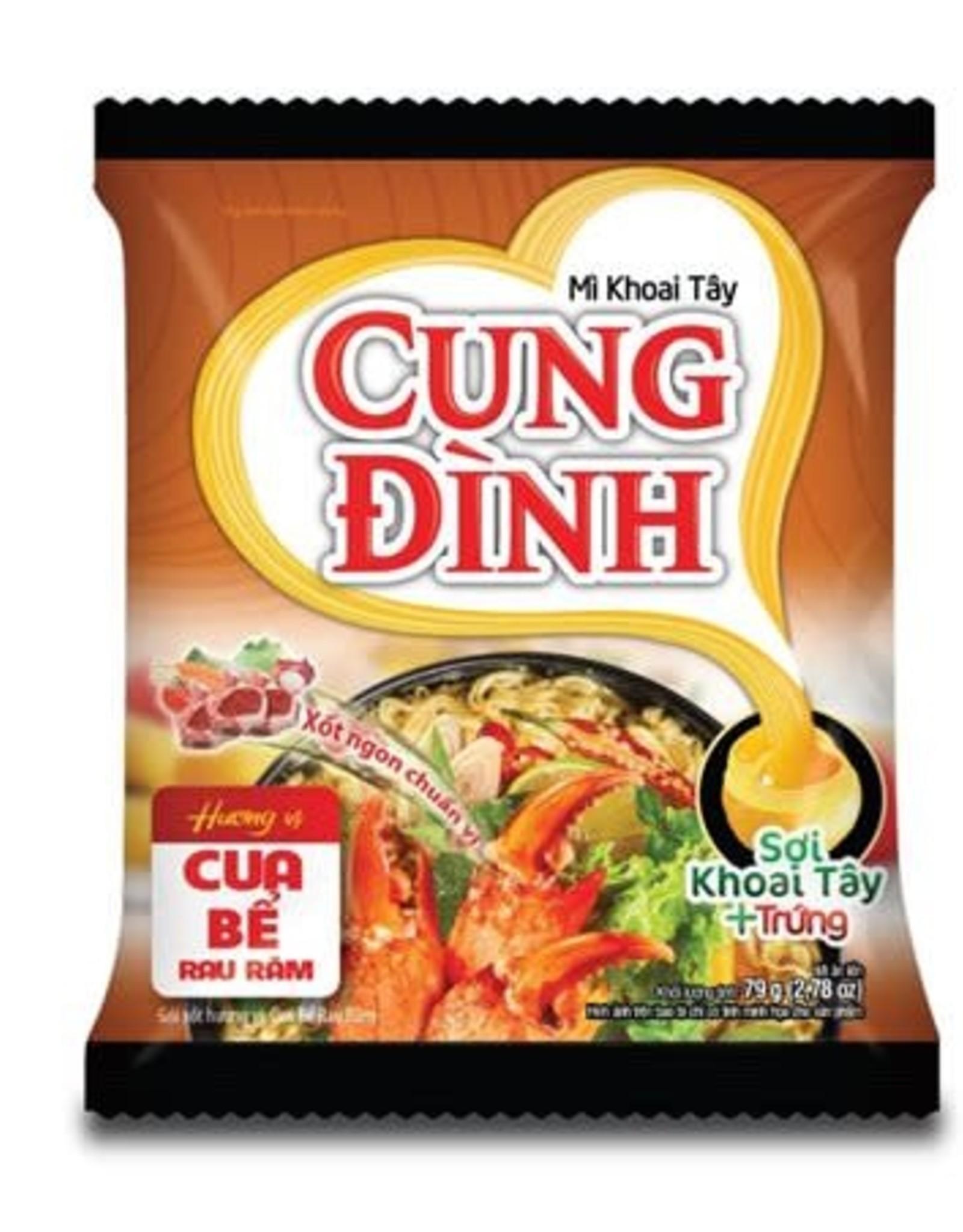 Cung Dinh Inst. Noodles - Crab with Laksa Flavor Cung Dinh 79g