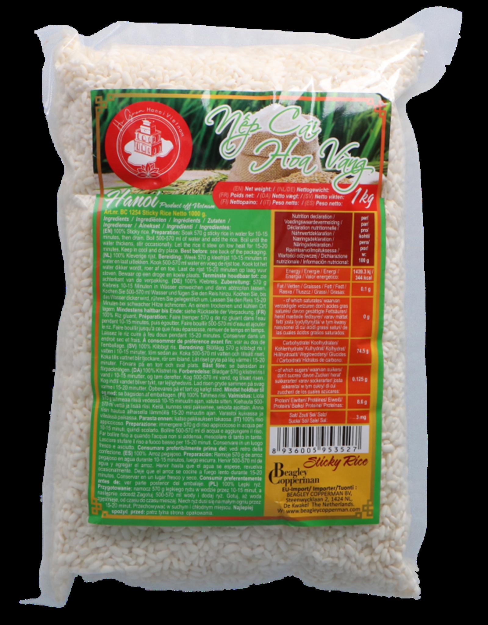 Ho Guom Ha Noi Kleefrijst - Nếp Cái Hoa Vàng 1000g