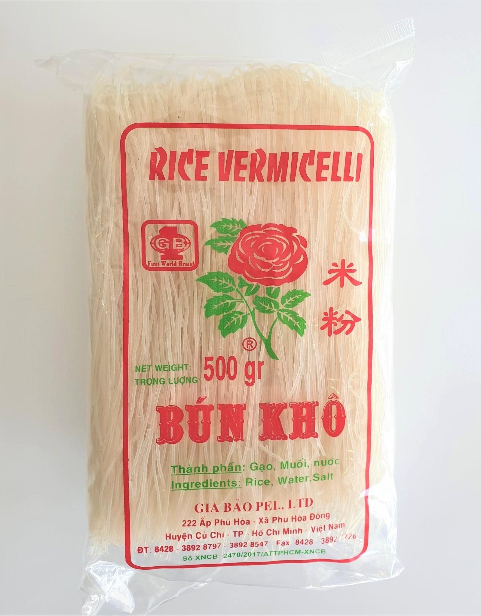 Rose Gia Bao Rice Vermicelli (bun kho) 500g