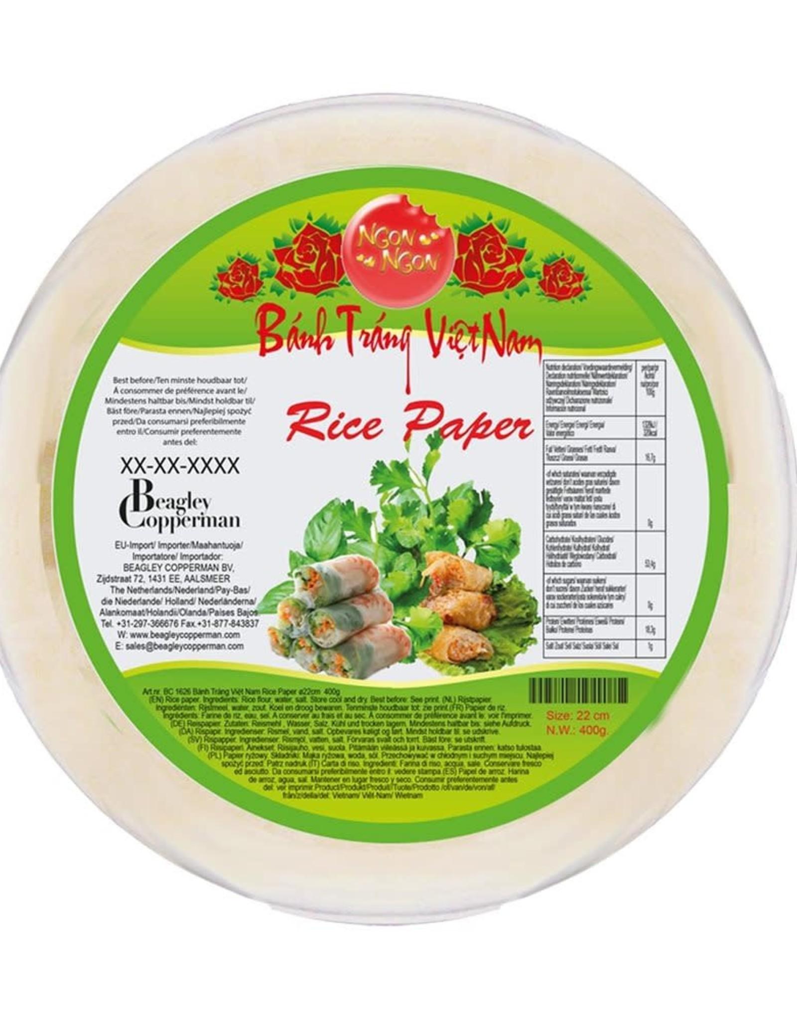Ngon Ngon Ngon Ngon Rice Paper - Bánh Tráng 22cm
