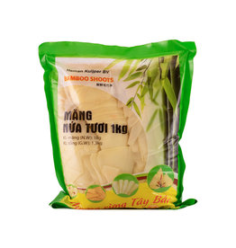 Pre-Cooked Bamboo Tip/Mang La Tuoi  1000g