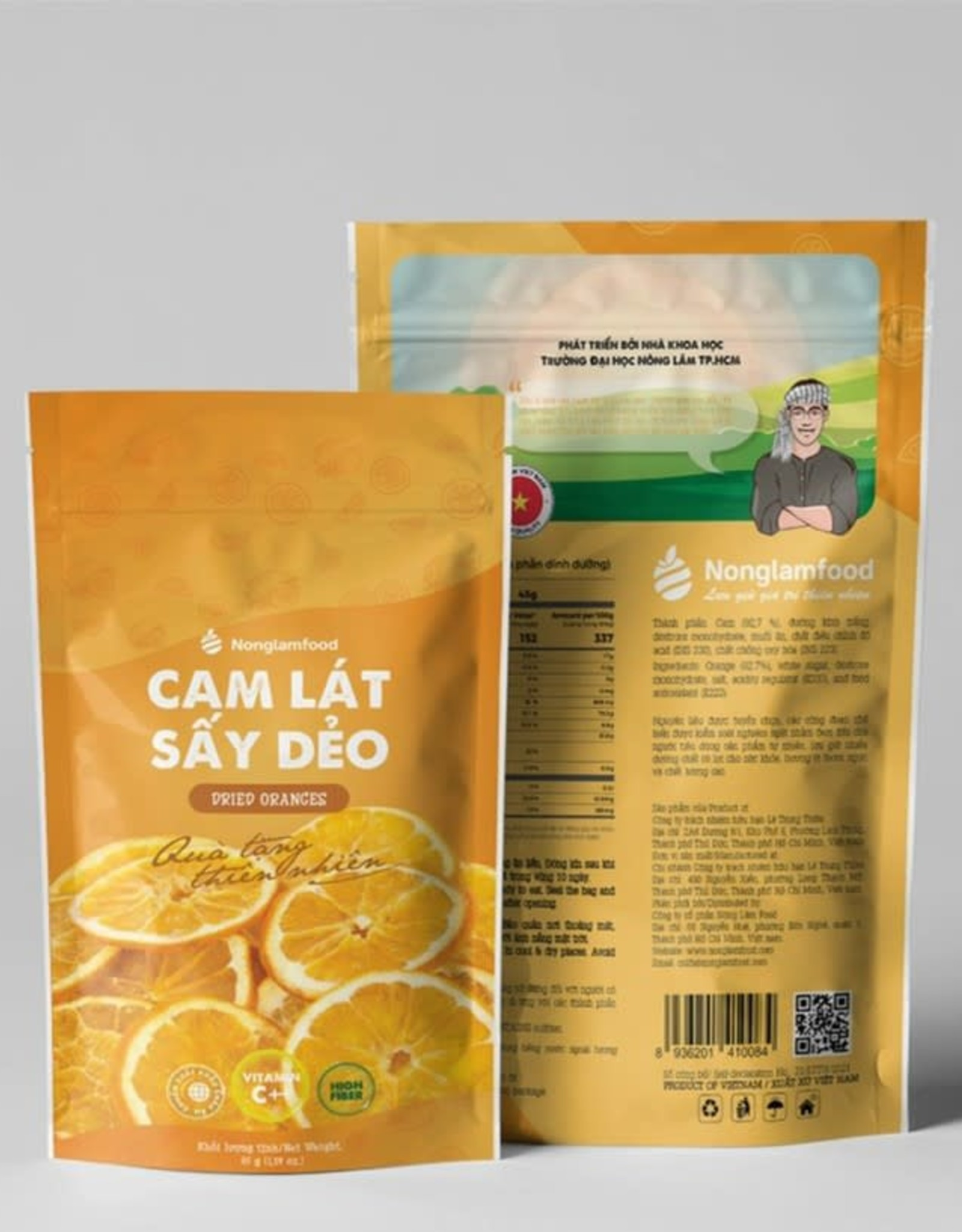 Nonglamfood NLF Dried Orange Slices 45g