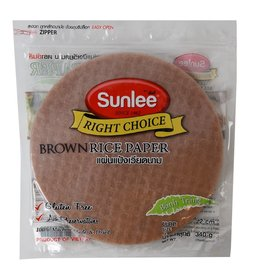Sun Lee SL Brown Rice Paper Round 22cm 340gr