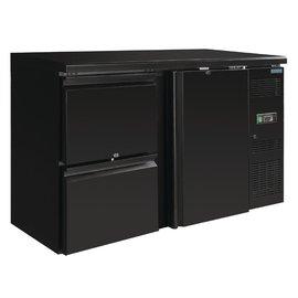 Polar U-serie werkbank koeling 1 deur en 2 laden