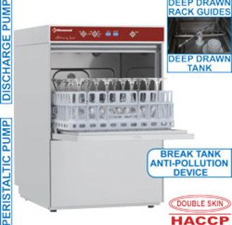 D281/6B Glazenwasser vierkante mand 400x400mm + anti-vervuiling voorziening type AB (Break Tank)