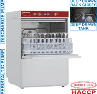 D281/6-PS Glazenwasser vierkante mand 400x400 mm + afvoerpomp