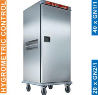 CTH20-EK Verwarmde wagen voor maaltijden, 20 GN 2/1, gecontroleerde bevochtiging.
