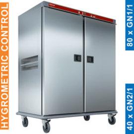 Diamond CTH40-EK Verwarmde wagen voor maaltijden, 40 GN 2/1, gecontroleerde bevochtiging.
