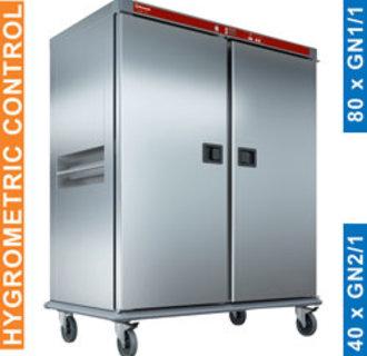 CTH40-EK Verwarmde wagen voor maaltijden, 40 GN 2/1, gecontroleerde bevochtiging.
