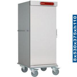 Diamond CNS20-ISO Neutrale wagen voor 8 dienbladen isotherme